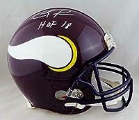 Randy Moss Signed Vikings F/S Authentic 83-01 TB Helmet W/HOF- JSA W Auth *Whit - Autographed NFL Helmets