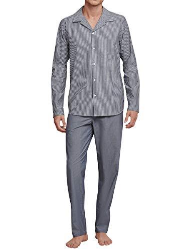 Seidensticker Pure Spirit Web-Pyjama durchgeknöpft Herren