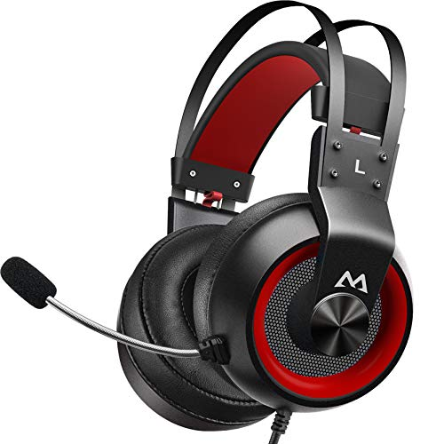 Mpow EG3 Pro - Over-Ear Gaming Headset with 3D Surround Sound, Headset for PC,PS4,Xbox One, Nintendo Switch, Noise Cancelling Mic