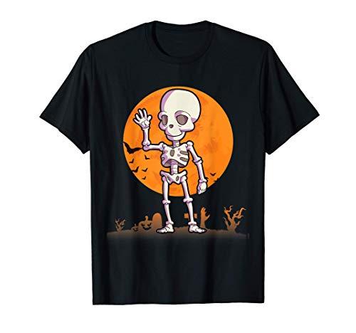 Esqueleto Disfraces de Halloween para hombres mujeres niños Camiseta