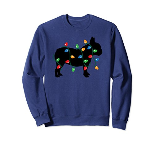 Christmas Lights French Bulldog Dog Lover Sweatshirt