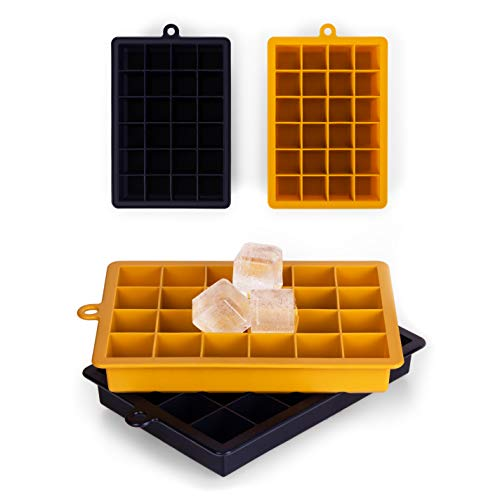 Blumtal Eiswürfelform Silikon Würfel - Würfelgröße M, 2x24er Pack, BPA frei, Leichtes Herauslösen der Eiswürfel, Silikon Form