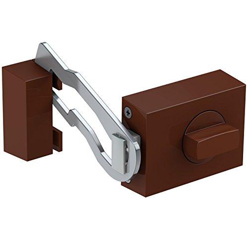Basi® Kastenzusatzschloss mit Sperrbügel KS500 Tür-Zusatzschloss verschiedene Farben R1306-0204, Braun