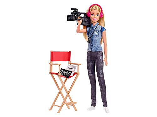 Barbie Film Director Playset with Doll, Chair, Camera and Accessories