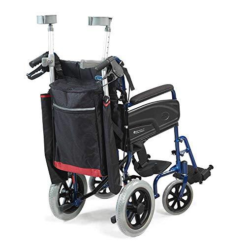 Wheelyscooter Reflective Wheelchair Scooter Gehstock/Krückentasche, Schwarz & Burgund
