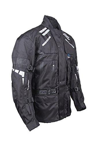 ROLEFF RACEWEAR RO 774 lange Textil Motorradjacke, gut belüftete Tourenjacke, schwarz, Größe 3XL