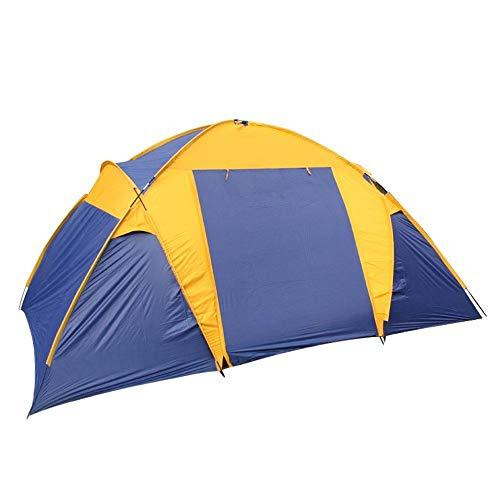 Viñedo 5-8 Personas Carpa de campaña Familiar Pop Up Carpas para Puertas Dobles al Aire Libre con mosquiteros 450 * 250 * 200 cm