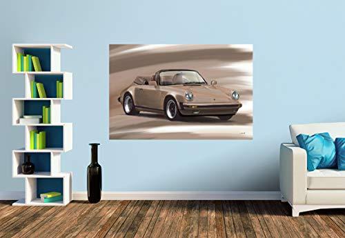 Premium Foto-Tapete Porsche 911 Cabrio (versch. Größen) (Size S   186 x 124 cm) Design-Tapete, Wand-Tapete, Wand-Dekoration, Photo-Tapete, Markenqualität von ERFURT