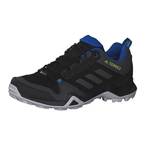 adidas Herren Terrex Ax3 GTX Freizeitschuhe und Sportbekleidung, Gray Core Black DGH Solid Grau Grün Signal, 45 1/3 EU