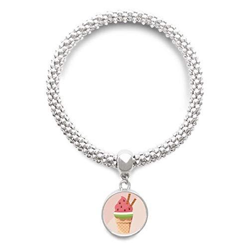 DIYthinker Damen Biscuits Watermelon Kegel EIS Splitter Armband Laufende hängende Schmuckkette