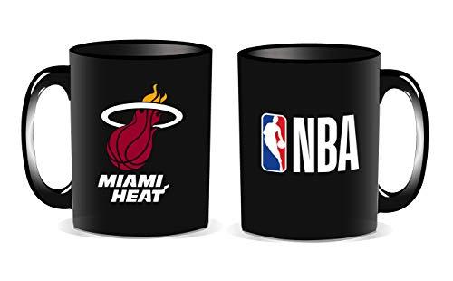 La Pluma Dorada Logo Heat Taza (recinto Individual NBA Mixta niño, Negro