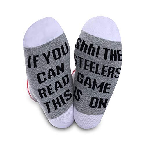 American Football Geschenk Fußball Fans Geschenk Lustige Geburtstagsgeschenke Neuheit Fußball Socken, Steelers, M