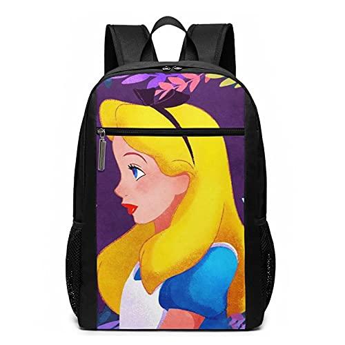 Alice in Wonderland Mochila de viaje ligera para portátil de 17 pulgadas mochila escolar casual para mujeres y hombres
