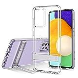 ESR Metall Ständer Hülle kompatibel mit Samsung Galaxy A52 5G(6,5 Zoll) Klares dünnes Silikon mit Quer & Hochformat Ständer Klar