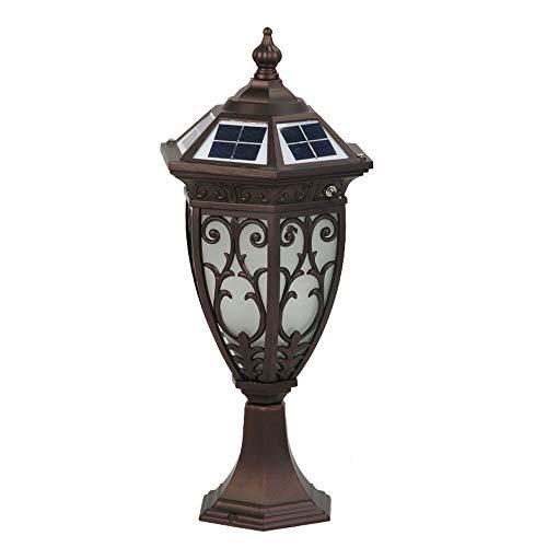 Libuty Solaire tête de Colonne de lumière extérieure étanche Mur de Jardin Lumière Garden Villa Home Street Lamp Lamp Post, Outdoor Lumières Colonnes décoratives Lantern