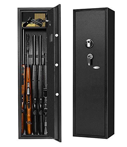 Biometric Rifle Gun Safe, Quick Access Fingerprint...