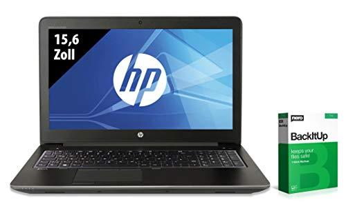 HP ZBook 15 G3 | Notebook | 15,6 Zoll | Intel Xeon E3-1505M v5 @ 2,8 GHz | 32GB RAM | 500GB SSD | Nvidia Quadro M2000M | FHD (1920x1080) | Webcam | Windows 10 Pro (Zertifiziert und Generalüberholt)