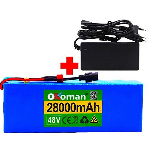 Batteria agli ioni di Litio per Bici elettrica 48v 13s5p 28ah Batteria ad Alta Potenza 1000w 54,6v 28000mah Batteria al Litio 21700 Batteria Bici elettrica Ebike con BMS + Caricatore
