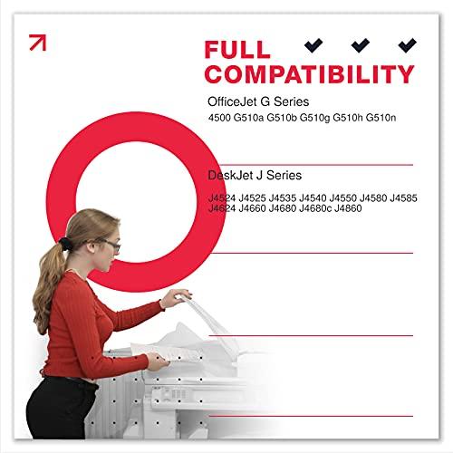 Sunnieink - Cartucho de tinta remanufacturado para HP 901 901XL para HP OfficeJet 4500 G510a J4524 J4525 J4535 J4540 J4550 J4580 J4585 J4624 J4660 J4680 J4680 c J4860(1 Negro)