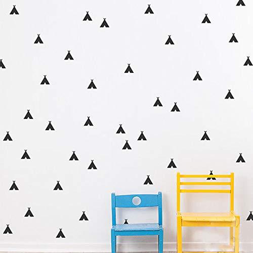 Wanghan Tipi Etiqueta De La Pared De Vinilo Nursery Kids Room Tatuajes De Pared Tee Pee Set Nursery Decor Art Mural Niños Dormitorio Wall Art Decor 24 Pcs