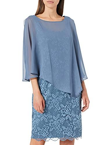 Vera Mont Damen 0095/4805 Cocktailkleid, Blue Dust, 38
