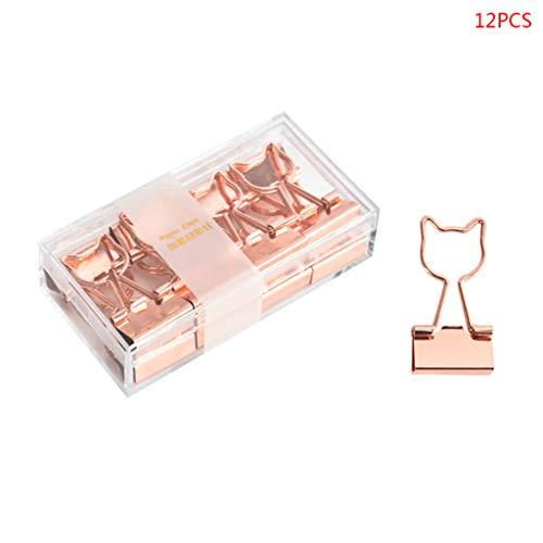 Meikong 12 Stück Kreative Katze Herz Kaktus Binder Clip Batterie Foto Nachricht Ticket Clips Organizer Korean Office Schulbedarf 8.2x4.2x2.2cm E