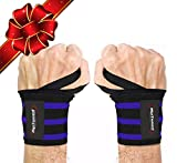 Rip Toned Wrist Wraps 18' Professional Grade with Thumb Loops - Wrist...