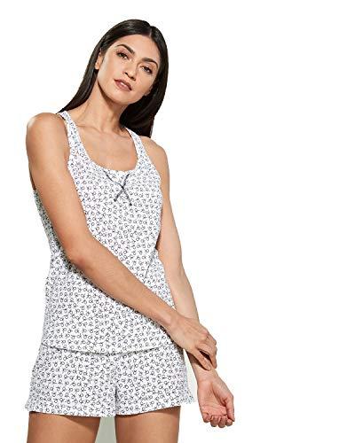Calvin Klein de las Mujeres Camiseta de Tirantes y Boxer Corto Juego de Pijama