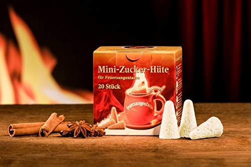 Feuerzangentasse Mini-Zucker-Hütchen (20 Stück) Original Mini Zuckerhütchen für Feuerzangenbowle