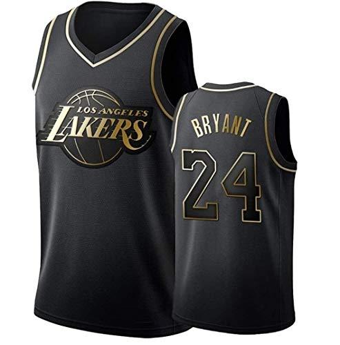 ZeYuKeJi Camiseta de la NBA de los Hombres Camiseta de los Lakers Nº 24 Lakers con Cuello en V con Malla Camiseta de Baloncesto Retro de Baloncesto Conmemorativa Camiseta sin Mangas