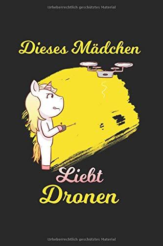 RC Pilot Notizbuch: Quadrocopter Notizbuch mit Drone Einhorn Cover als Geschenk für RC Pilotin - A5 Mit 120 Linierten Seiten