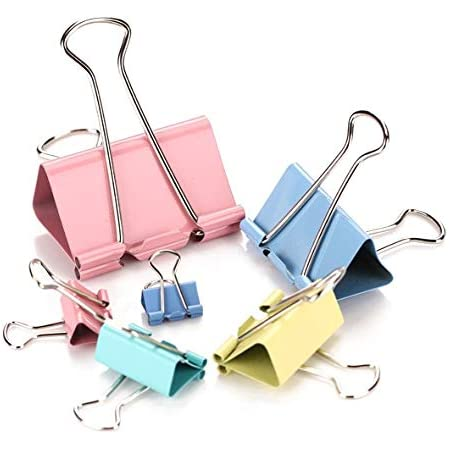 6 Large  Binder Clip Keep Files Bound Tightly Quality Made Free Postage