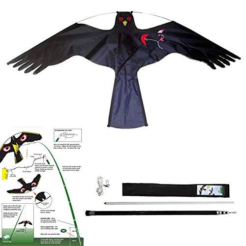 Yomyray Birds Repellent Kite Simulator Hawk Flash Reflective Scare, Dispositivo de Potencia de Viento Profesional Bird Scarer para jardín en casa al Aire Libre (4 Meters(158 Inch))