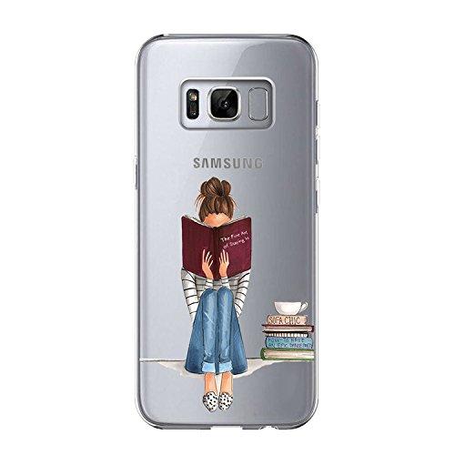 Vanki Custodia Samsung Galaxy S8 Plus, Samsung Galaxy S8 Plus Cover Morbida di TPU Silikon Cristallo Trasparente Sottile Bordo Proteggi Copertura Completa (Samsung Galaxy S8 Plus, 2)
