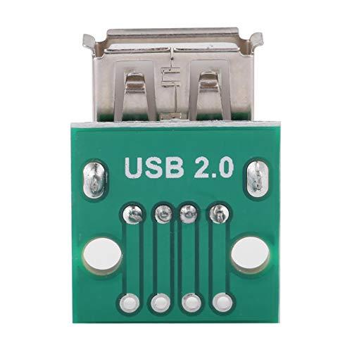 Placa de conexión Hembra USB, 10 Piezas USB Tipo A Placa de conexión Hembra Tipo A Conector Adaptador de Paso de 2,54 mm Dip