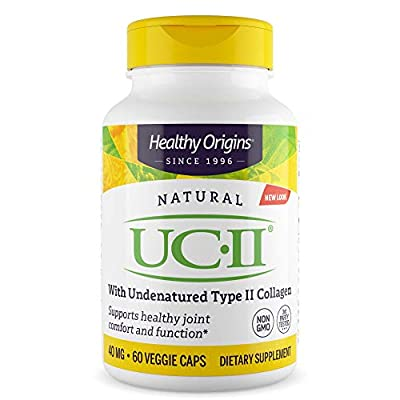 Healthy Origins - Natural UC II x 60 Vegetable Capsules | Joint Health Supplement | Type II Collagen | Gluten-Free | Soy-Free | Dairy-Free