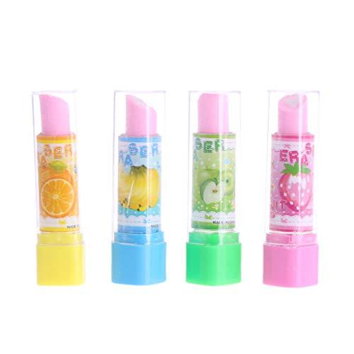 Qianqian56 Mooie Lippenstift Stijl Rubber Fruit Potlood Gum Kantoor briefpapier Gift Toy