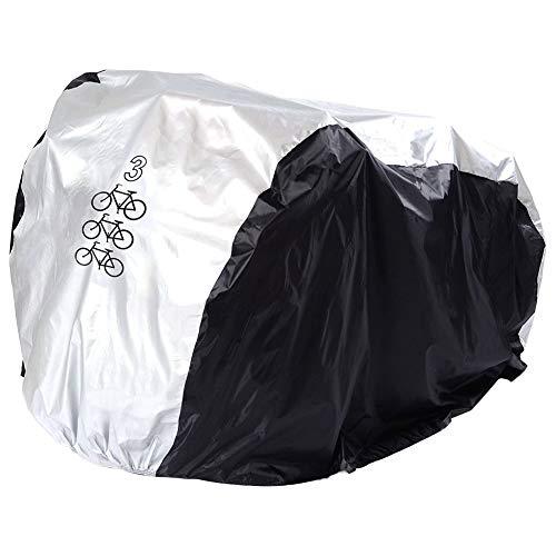 PUDDINGHH® Housse de Vélo,Housse de Protection pour Vélo 180T Nylon avec Enduit de PU Etanche à la Pluie Poussière Soleil Rayon UV Couverture de Vélo Tout-Terrain Couverture de Moto Sac Réglable,M