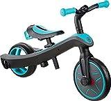 Globber 630-105 Bicicleta Trike Explorer 2 en 1, Verde Azulado, Talla única