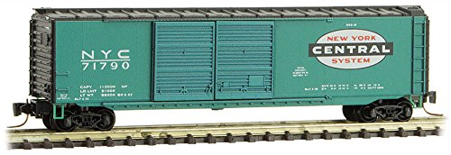 Micro-Trains MTL Z-Scale 50ft DD Box Car New York Central/NYC(Jade Green) #71790