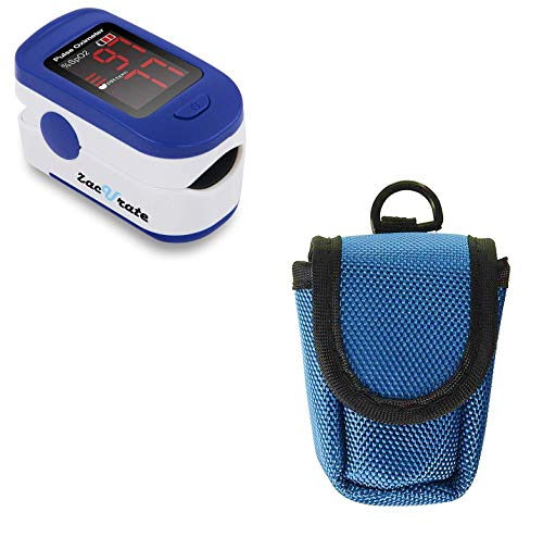 Zacurate 500BL Fingertip Pulse Oximeter and Oximeter Carrying Case Bundle