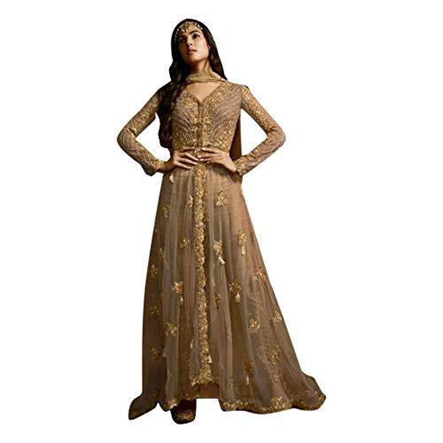 SHRI BALAJI 8709 Abito Indian anarkali netto ricamo pesante hijab cocktail da sposa donne etniche festivo cucito semi bollywood etnico usura partito cermonia donne muslim