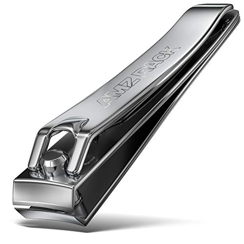 AMZ RACK 1 Pc Large Nail Clippers - 82mm, Built in Nail Files - Heavy Duty Stainless Steel Sharpest Thick Toenail, Fingernail Cutter for Men and Women