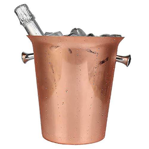 Grand Seau à Glace, Seau à Glace en Acier Inoxydable 5L Seau à Champagne en Or Rose plaqué cuivre seaux à Champagne en Barre de Glace