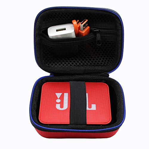 Duro Viaje Estuche Bolso Funda para JBL GO/JBL Go 2 - Altavoz inalámbrico con Bluetooth por GUBEE (Rojo)