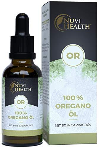 Oregano Öl - 20 ml = 820 Tropfen - 100% Premium ätherisches Oreganoöl aus Frankreich - 80% Carvacrol - Laborgeprüft - Keine Zusätze - Hochdosiert - Vegan - Origanum vulgare hirtum