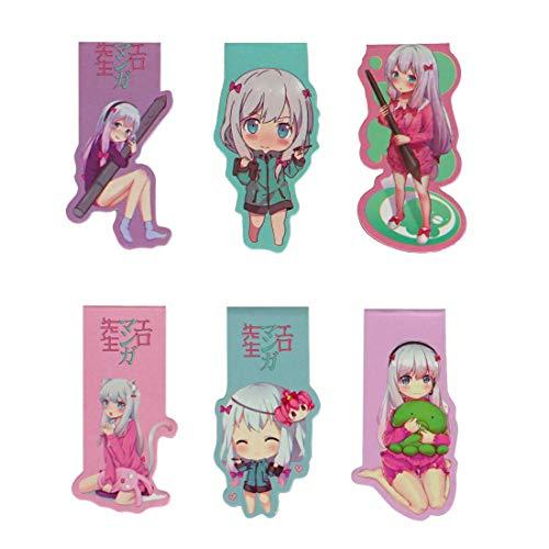 CoolChange Eromanga Sensei magnetische Manga Lesezeichen mit Sagiri Izumi Chibi Motiven, 6 Stk.