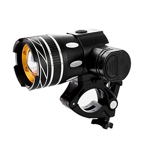 XIAOHUA-UK Luz de Bicicleta, Faro de Bicicleta Recargable USB Luz de Bicicleta Delantera Luz de Bicicleta de montaña Linterna LED de 150 lúmenes con 3 Modos, Luz de Bicicleta Impermeable