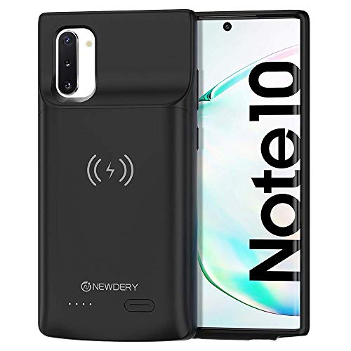NEWDERY 5200mAh Akku Hülle für Galaxy Note 10, Ladehülle Akku hülle für Galaxy Note 10 Schutzhülle Wiederaufladen Leistungsstarke Power Bank(Unterstützung Qi Wireless Lade)