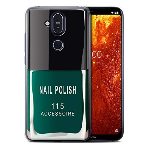 eSwish telefoonhoesje/over/huid/NOKLUM-CC/nagellak/make-up collectie Nokia 8.1 2018/X7 Groen